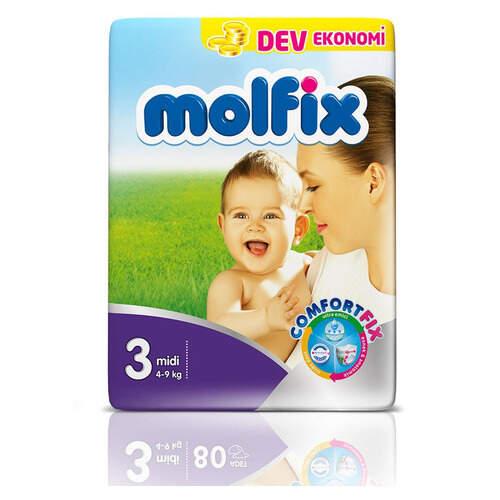 Molfix Dev Ekonomik İkiz (3) 4-9 Midi 72'li