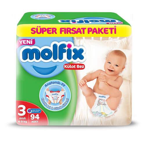 Molfix Pants Süper Fırsat Paketi Midi 94'lü