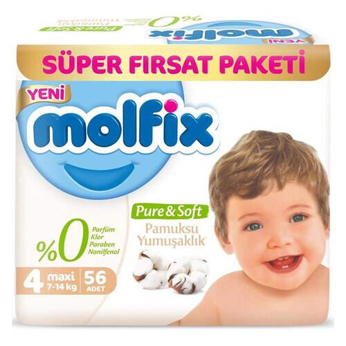 Molfix Premium Süper Fırsat Paketi Maxi 56'lı
