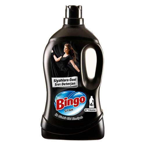 Bingo Matik Özel Sıvı Deterjan Siyah 4 Lt.