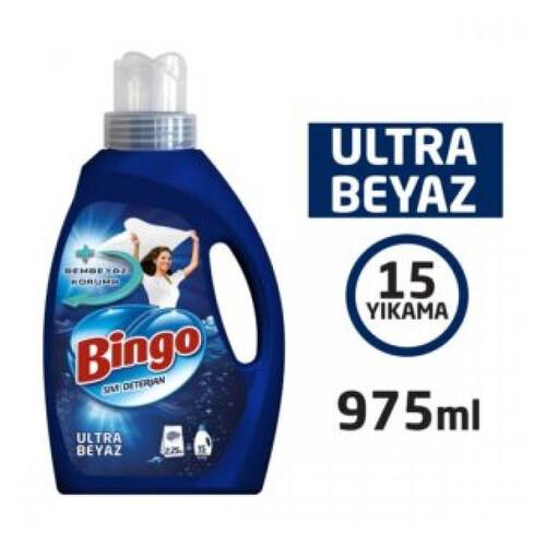 Bingo Matik Ultra Beyaz Sıvı Deterjan 975 Ml.