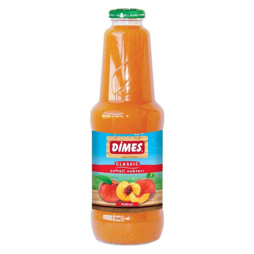 Dimes Meyve Suyu Seftali Cam Sise 1 Lt.