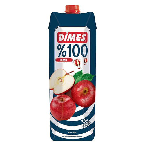Dimes Premium Meyve Suyu %100 Elma 1 Lt.