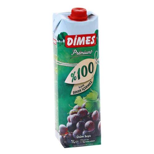 Dimes Premium Meyve Suyu %100 Üzüm 1 Lt.
