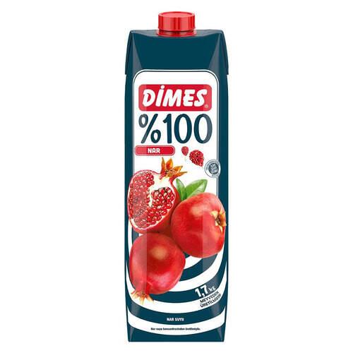 Dimes Premium Meyve Suyu %100 Nar 1 Lt.