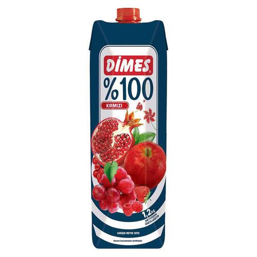 Dimes Premium Meyve Suyu %100 Karisik 1 Lt.
