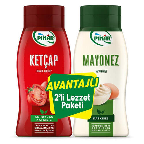 Pınar 2 Li Ketçap + Mayonez 1100 Gr.