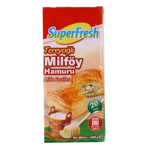 Super Fresh Tereyağlı Milföy 1000 Gr.