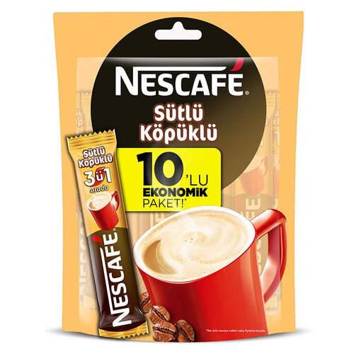 Nescafe Sütlü Köpüklü 10'lu Paket
