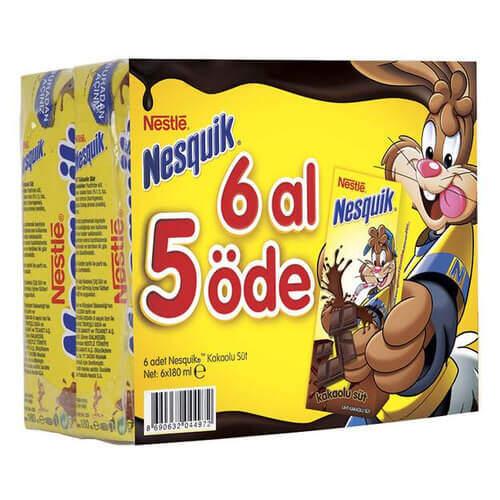 Nestle Nesquık Kakaolu Süt 6' Lı