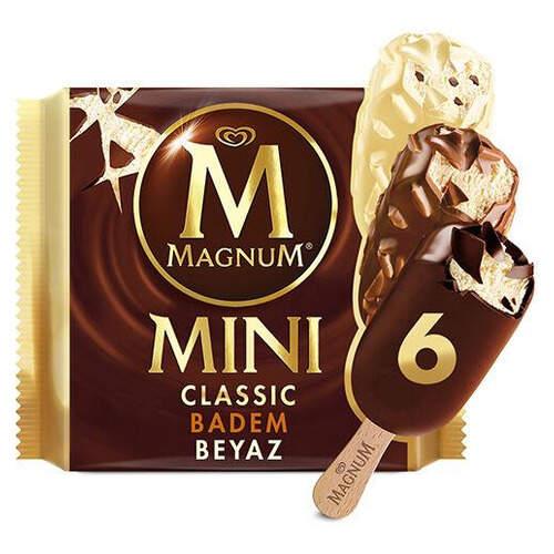 Magnum Mini Classic Badem Beyaz 6x60 Ml.