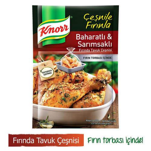 Knorr Fırında Tavuk Çeşnisi Baharatlı Sarımsak 37 Gr.