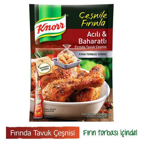 Knorr Fırında Tavuk Çeşnili Acılı Baharatlı 34 Gr.