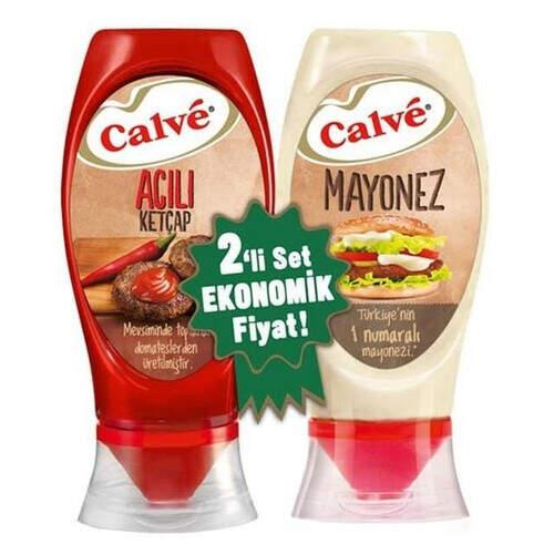 Calve 2 Li Ketçap 400 Gr. (acı) + Mayonez 350 Gr.
