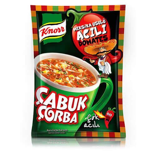 Knorr Çabuk Çorba Domatesli Acılı