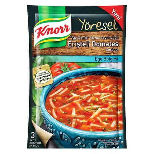 Knorr Çorba Yöresel Erişte Domates