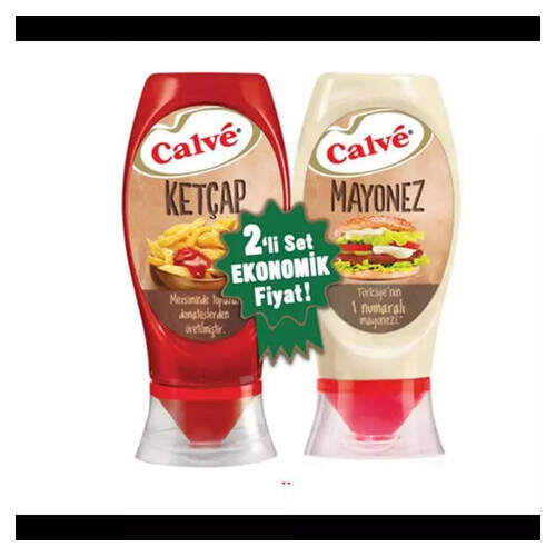 Calve 2 Li Ketcap 400 Gr. (tatlı) + Mayonez 350 Gr.