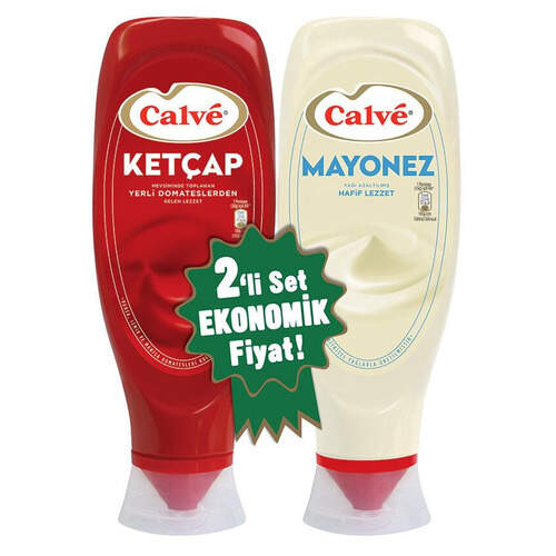 Calve 2 Li Ketcap 540 Gr. (tatlı) + Mayonez 600 Gr.