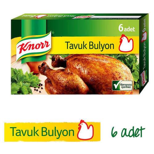Knorr Bulyon Tavuk Suyu 6'lı Tablet 60 Gr.