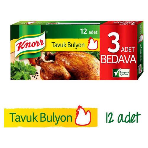 Knorr Bulyon Tavuk Suyu 12'li Tablet 120 Gr.