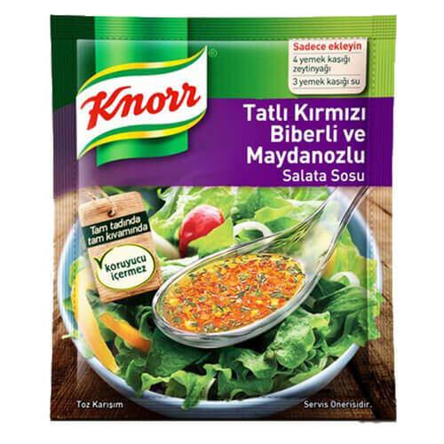 Knorr Salata Sosu Tatlı Kırmızı Biber 5'li Paket 50 Gr.