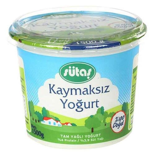 Sütaş Kaymaksız Yoğurt 1500 Gr.