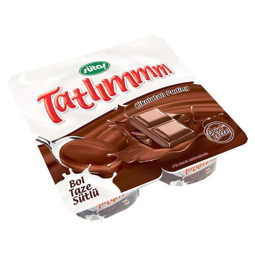 Sütaş Tatlım Çikolatalı Puding 4'lü 200 Gr.