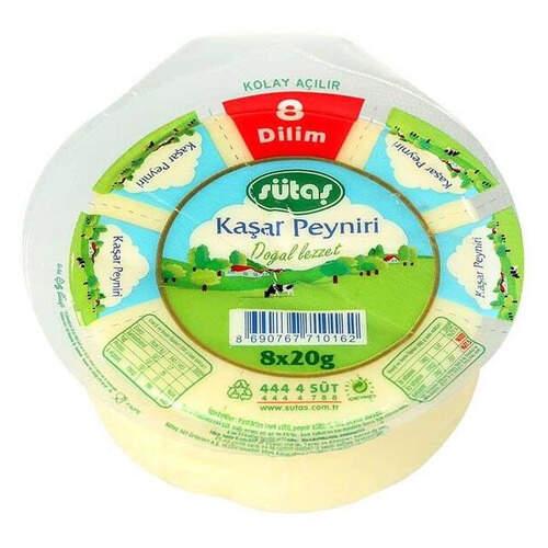 Sütaş 8 Dilimli Kaşar 150 Gr.