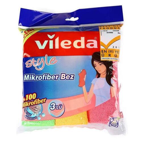 Vileda Mikrofiber Style Temizlik Bezi 3'lü