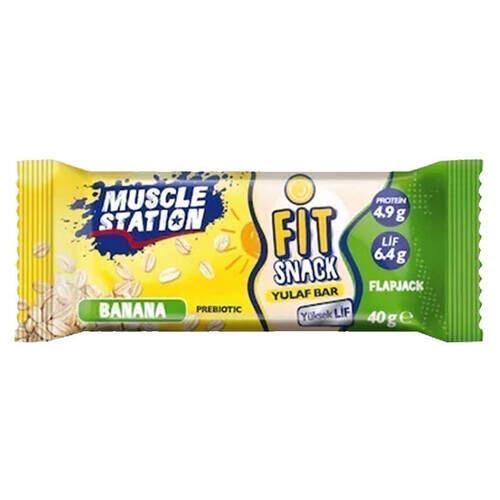 Musclestatıon Fıt Snack Yulaf Bar 40gr.banana