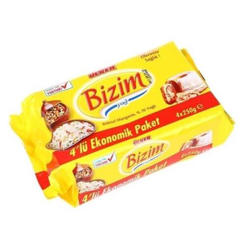 Ulker Bizim Margarin 4x250gr.paket