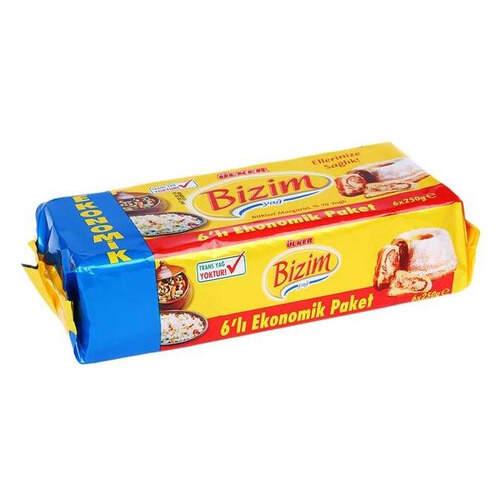 Ülker 6'lı Ekonomik Paket Bizim Margarin 250 Gr.
