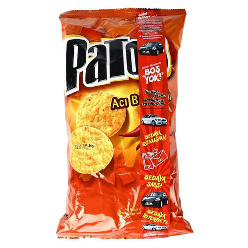 Patos Acı Baharatlı Mısır Cipsi 118 Gr.