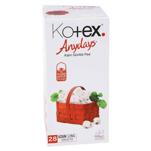 Kotex Anydays Uzun Günlük 28'li Ped