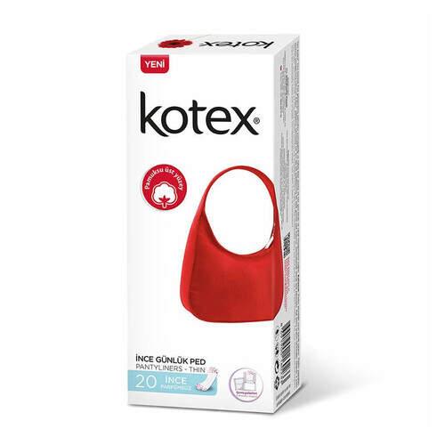 Kotex Lightdays Kokusuz Günlük 20'li Ped