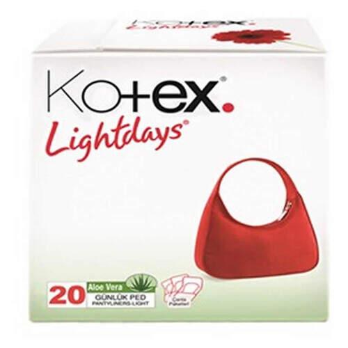 Kotex Lightdays Aleovera Günlük 20'li Ped