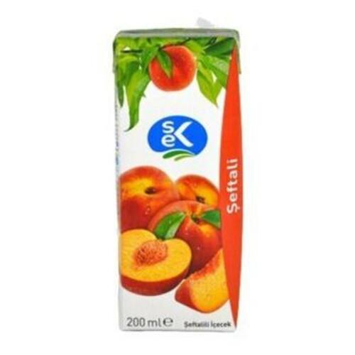Sek Şeftali Meyveli İçecek 200 Ml.