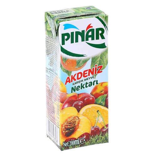 Pınar Meyve Suyu Akdeniz Kokteyli 200 Ml.