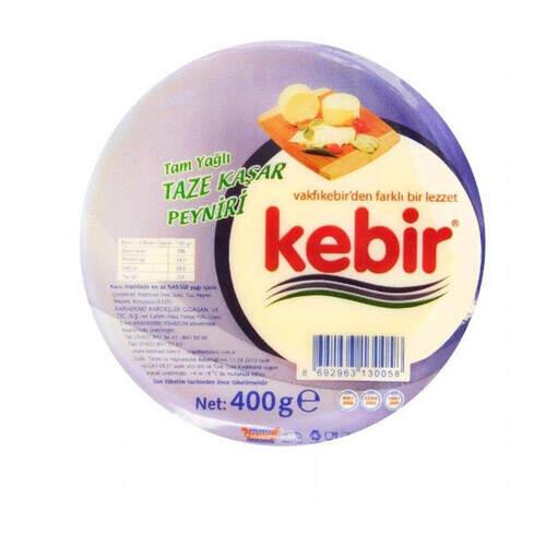 Kebir Tam Yağlı Taze Kaşar Peyniri 400 Gr.