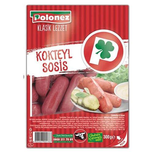 Polonez Kokteyl Sosis 300gr.