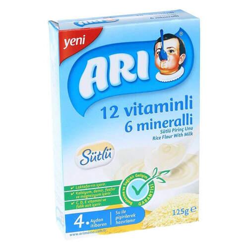 Arı 12 Vitaminli Sütlü Pirinçli Unu 125 Gr.