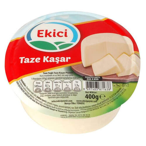 Ekici Taze Kaşar Peyniri 400 Gr.