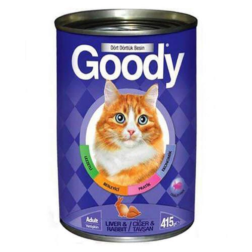 Goody 3205 Ciğer Ve Tavşanlı Kedi Konservesi 415 Gr.