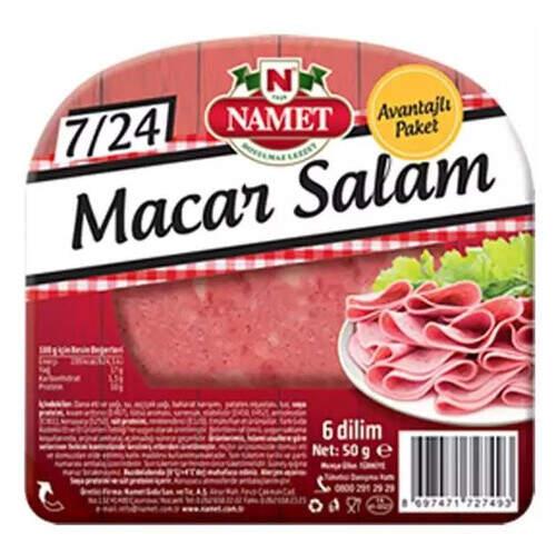 Namet 7/24 Dana Macar Salam 50 Gr.
