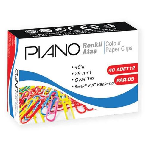 Piano Renkli 40lı Ataş