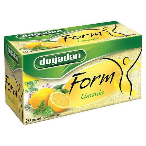 Doğadan Form Limonlu Karışık Bitki Çayı 20'li Paket 40 Gr.
