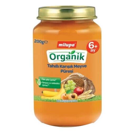 Milupa Organik Tahıllı Karışık Meyve 200 Gr.