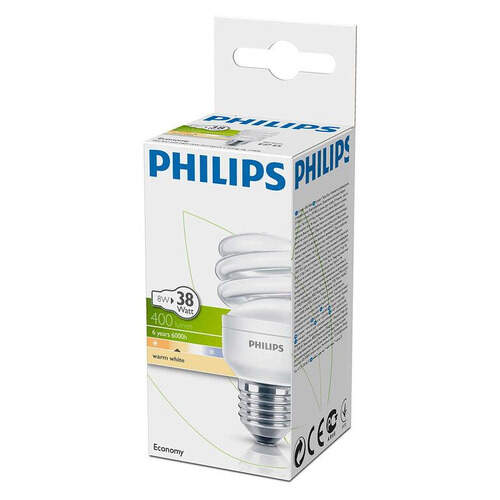 Philips Tornado Kalın Duy Sarı 8 W.