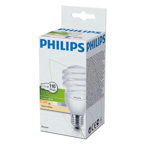 Philips Tornado Beyaz Kalın Duy T3 20 W.