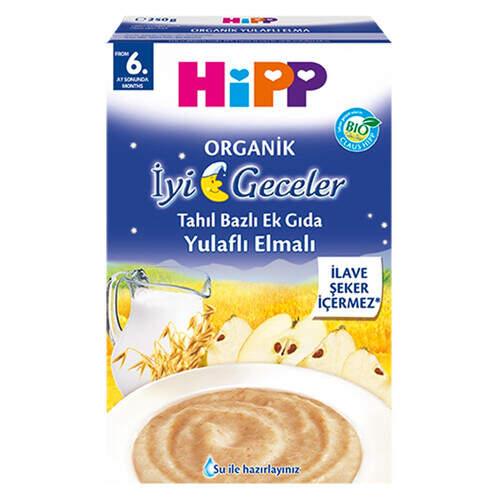 Hipp Organik İyi Geceler Sütlü Yulaf Elmalı 250 Gr.